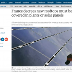 French solar green roof law kicked out by French Senate