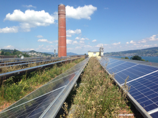 Green roof solar panels _ switzerland