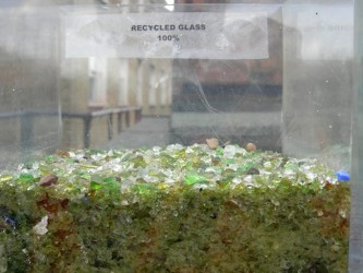Recycled Glass for use on green roofs