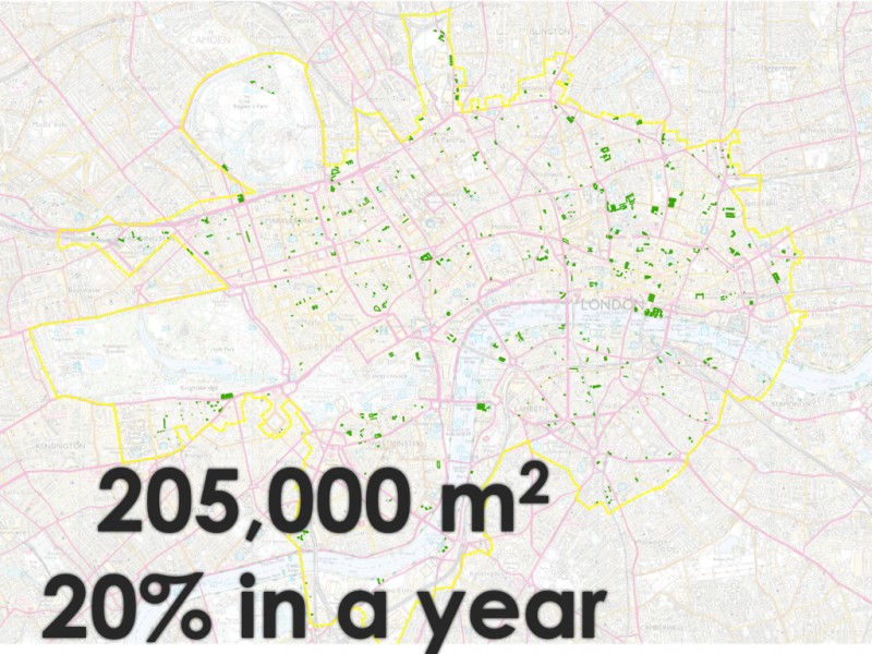 Green Capital - Central London Green roof Map 2016