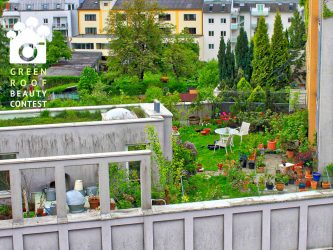 A garden green roof in the City of Linz, Austria