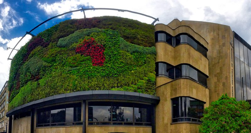 The Bogota Environment Ministry - green wall