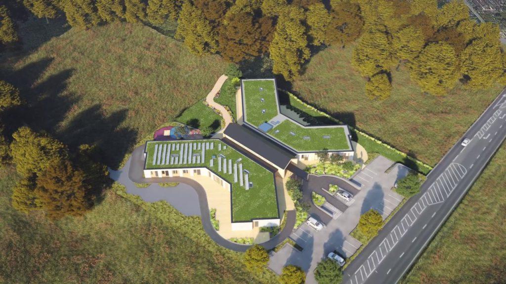 Noahs Ark Hospice - bioslar roof
